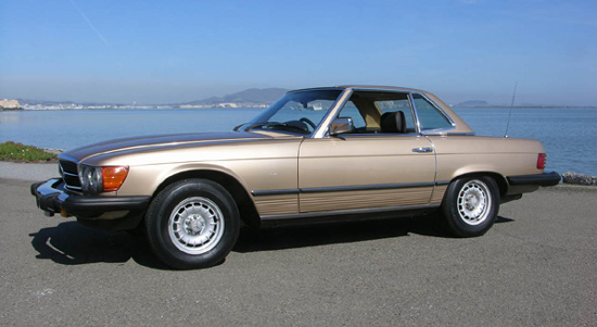 The 450SL became the ubiquitous automotive status symbol in the United States. This is a 1980 US edition finished in Champagne Metallic.